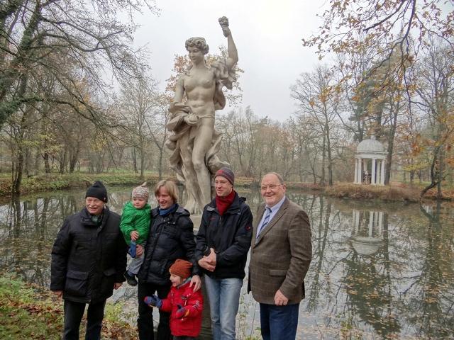 Flora Einweihung - die Akteure (v.r.n.l.) Frank Butze, Dr. Stefan Dürre, Hans Effenberger, Detlef Bäsler