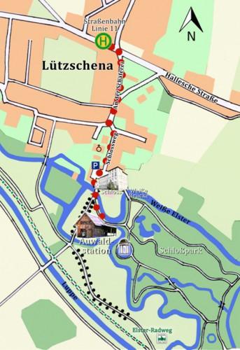 Auwaldstation-Lage-Straßenbahn