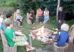 Zu jedem guten Camp gehört auch ein Lagerfeuer.