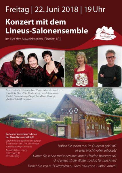Das Lineus Salonensemble im Innenhof der Auwaldstation